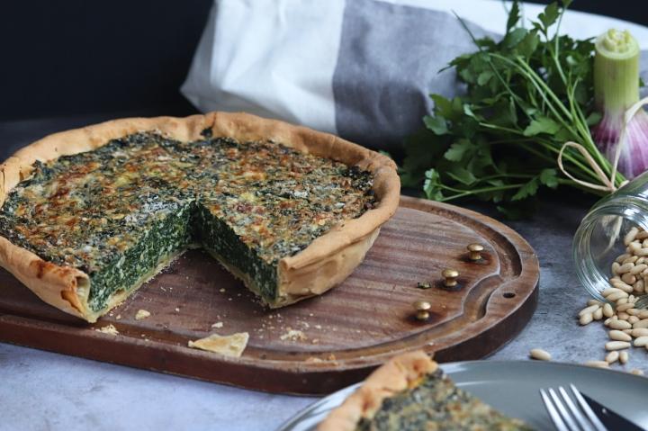 Brocciu Spinach Tart